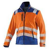 KÜBLER REFLECTIQ Jacke 1507-8427-3746 warnorange-kornblumenblau Größe XS...
