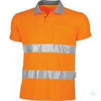 Warnschutz-Poloshirt 162035 warnorange Größe S Hochwertige...