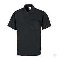Poloshirt für Sie&Ihn 1612 181-32 schwarz Größe XS 1/2-Arm, Polokragen mit...
