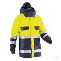 Wetter-Jacke 16428337-4834 dunkelblau-warngelb Größe S 2 Brusttaschen mit...