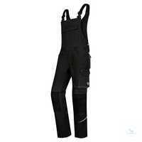 Latzhose Comfort Plus 1804 720 32 Schwarz Größe 44N Stretchträger mit...