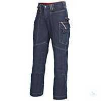 Herren-Bundhose 1899038-004 dunkelblau Denim Größe 102 Bund mit doppelten...