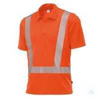 Hi-Vis COMFORT Poloshirt 2132260-85 warnorange Größe XS Polokragen mit...