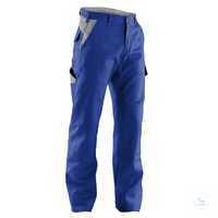 Arbeitshose IDENTIQ cotton 2044 1314 4695 kornblumenblau-mittelgrau Größe 114...