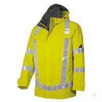 Wetterschutzjacke 2120 880 86 warngelb Größe XS Stehkragen, abknöpfbare...