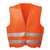 Warnweste OSKAR 22686 orange Warnweste in Universalgröße, Brustumfang ca. 130...