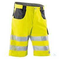 KÜBLER REFLECTIQ Shorts 2307-8340-3497 warngelb-anthrazit Größe 42...