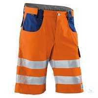 KÜBLER REFLECTIQ Shorts 2307-8340-3746 warnorange-kornblumenblau Größe 42...