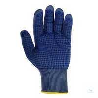 Schutzhandschuh 1941 Größe 10 Nylon Feinstrickhandschuh, einseitig blaue...