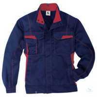 Jacke 1345 3411 4855 dunkelblau-mittelrot Größe 102 2 Brusttaschen mit Patte...