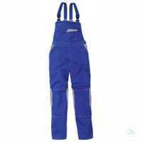 Latzhose 3347 3411 4695 kornblumenblau-mittelgrau Größe 102 2 eingearbeitete...