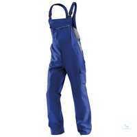 Latzhose IDENTIQ cotton 3044 1314 4695 kornblumenblau-mittelgrau Größe 102 2...