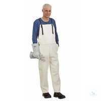 Schweißer-Lederlatzhose, Größe 50 Latzhose mit zwei Taschendurchgriffen,...