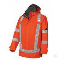 Wetterschutzjacke 2120 880 85 warnorange Größe XS Stehkragen, abknöpfbare...