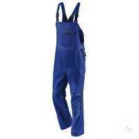 Latzhose 3347 3411 4648 kornblumenblau-dunkelblau Größe 102 2 eingearbeitete...