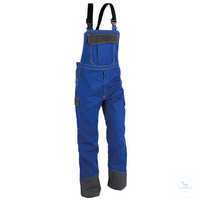 Safety Latzhose 37808413-4697 kornblumenblau-anthrazit Größe 102...