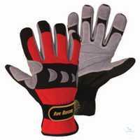 ROPE RESCUE Mechanics-Handschuh rot-schwarz-grau Größe S Spezialisierter...