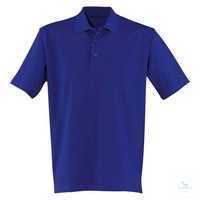 Polo-Shirt 56066213-46 kornblumenblau Größe XS Kurzarm, mit 3er-Knopfleiste.