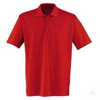 Polo-Shirt 56066213-55 mittelrot Größe XS Kurzarm, mit 3er-Knopfleiste.