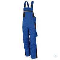 Latzhose 61937TC0 kornblau-schwarz Größe 42 Brustlatz mit aufgesetzter...