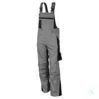 Latzhose 61937TC7 grau-schwarz Größe 42 Brustlatz mit aufgesetzter Latztasche...