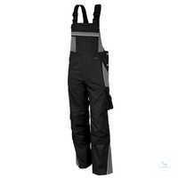 Latzhose 61937TC8 schwarz-grau Größe 42 Brustlatz mit aufgesetzter Latztasche...