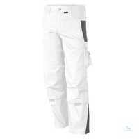 Bundhose 61938TC4 weiß-grau Größe 52 Bund mit 6 Gürtelschlaufen. Gummizug...