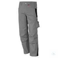 Bundhose 61938TC7 grau-schwarz Größe 42 Bund mit 6 Gürtelschlaufen. Gummizug...