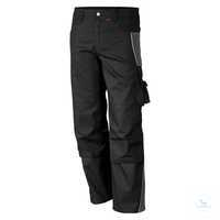 Bundhose 61938TC8 schwarz-grau Größe 42 Bund mit 6 Gürtelschlaufen. Gummizug...