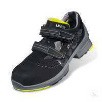 Sandale 8542 S1 SRC schwarz-gelb Weite 11 Größe 35 Sicherheitssandale S1....