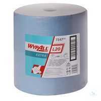WYPALL* L20 Extra Wischtücher 7347 Großrolle mit 1.000 Tüchern B 33 x L 38 cm...