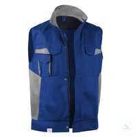 Weste 73483411 4695 kornblumenblau-mittelgrau Größe S 2 Brusttaschen mit...