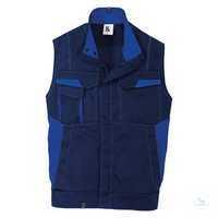 Weste 7348 3411 4846 dunkelblau-kornblumenblau Größe S 2 Brusttaschen mit...