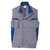 Weste 7348 3411 9546 mittelgrau-kornblumenblau Größe S 2 Brusttaschen mit...