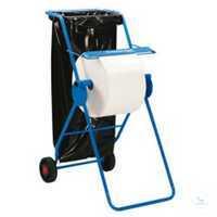 Fahrbarer Bodenständer für Großrollen, mit Abfallsack, 6155 Fahrbarer...