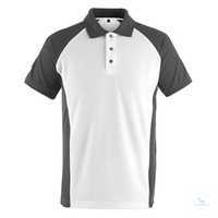 Polo-Shirt Bottrop 50569961-0618 weiß-dunkelanthrazit Größe XS Zweifarbig....
