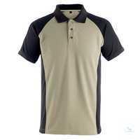 Polo-Shirt Bottrop 50569961-5509 hellkhaki-schwarz Größe 3XL Zweifarbig....