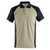 Polo-Shirt Bottrop 50569961-5509 hellkhaki-schwarz Größe XS Zweifarbig....