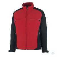 Softshell Jacke Dresden 12002149-0209 rot-schwarz Größe 3XL Atmungsaktiv,...