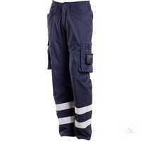 Servicehose 17879-230-010 schwarzblau Größe 42 Servicehose mit Reflexband,...