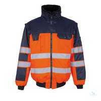 Pilotjacke Livigno 00920660-141 orange-marine Größe XS Die Pilotjacke ist...