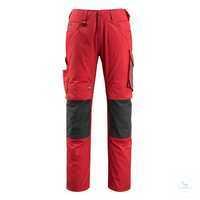 Hose Mannheim 12679442-0209 rot-schwarz Größe 46 Zweifarbig, Dreifache...