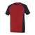 T-Shirt Potsdam 50567-959-0209 rot-schwarz Größe XS Zweifarbig. Meterware mit...