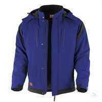 Pro-Softshelljacke 201040 blau-schwarz Größe XS Stehkragen mit 2...