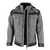 Pro-Winterjacke 203041 grau-schwarz Größe XS Stehkragen mit Klettverschluss,...