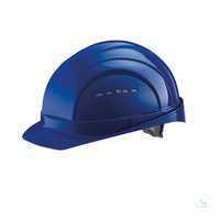 Schutzhelm EuroGuard 6-Punkt blau Modernes 5-Rippen-Design, gerade Helmform,...