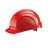 Schutzhelm EuroGuard 6-Punkt rot Modernes 5-Rippen-Design, gerade Helmform,...