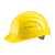 Schutzhelm EuroGuard 6-Punkt gelb Modernes 5-Rippen-Design, gerade Helmform,...