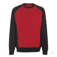 Sweatshirt Witten 50570962-0209 rot-schwarz Größe XS Zweifarbig. Gekämmte...
