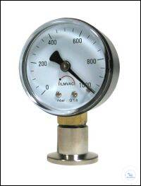 Rough Vacuum Gauges with Bourdon Feather VMF Type VMF 16 stainless steel, Measuring range max....